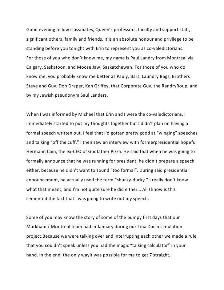 8th grade speech examples high school graduation speech examples