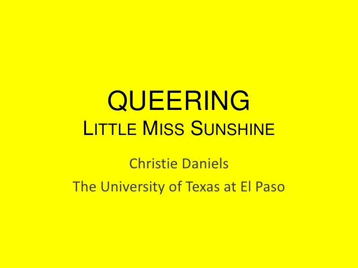 Queering Little Miss Sunshine
