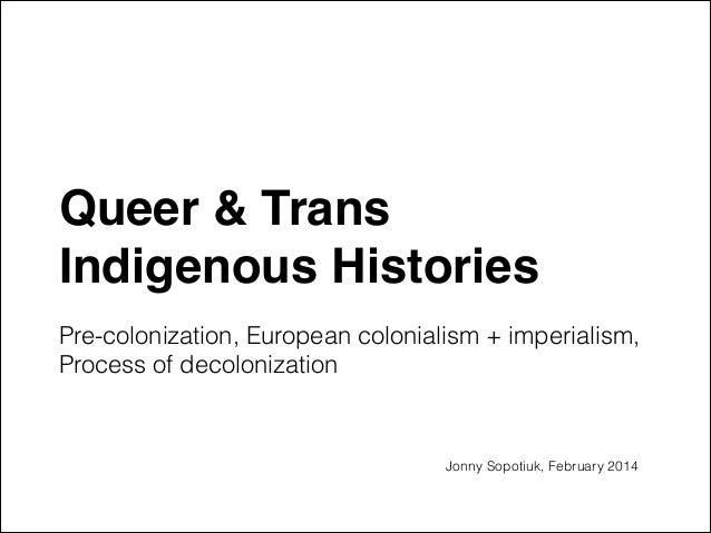 Queer & Trans Indigenous Histories