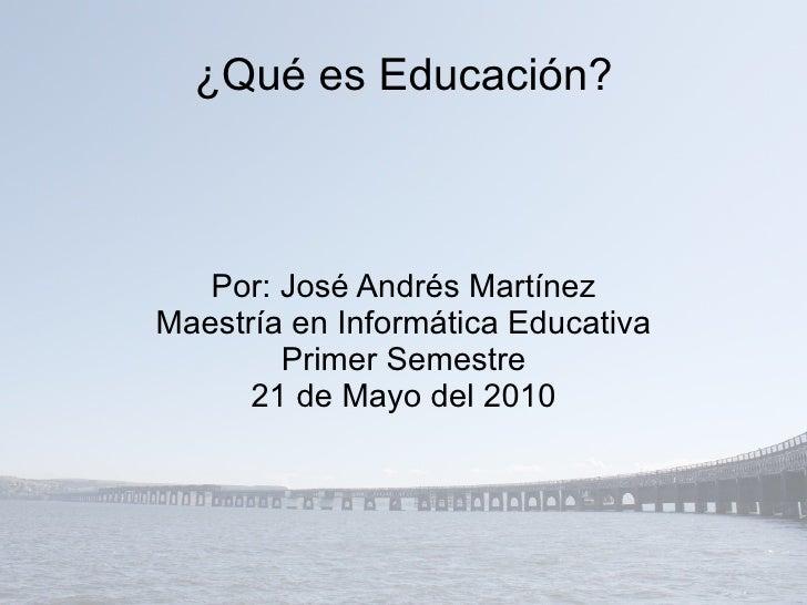 Hoy para mi: Educación es