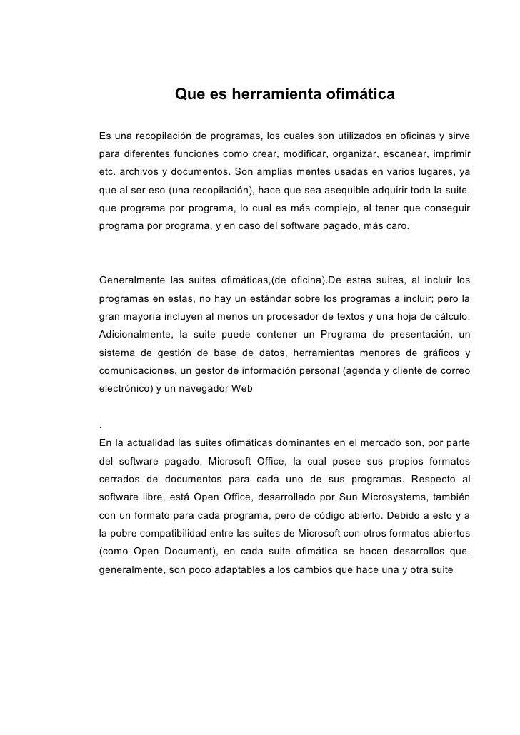 Que es herramienta ofim tica for Oficina de correos rivas vaciamadrid