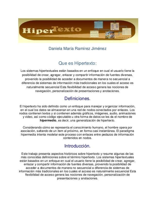 Que es hipertextoguion