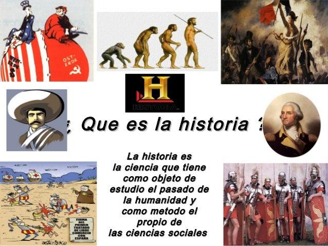 Que es la historia