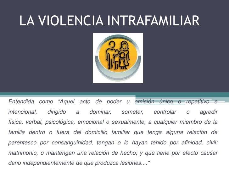 Que es la violencia intrafamiliar