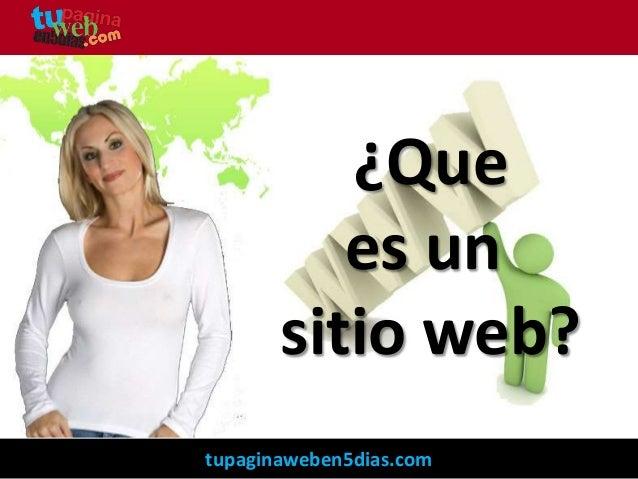 ¿Que es un sitio web?