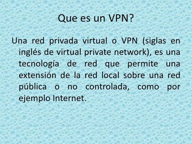 Que es un vpn y como crear