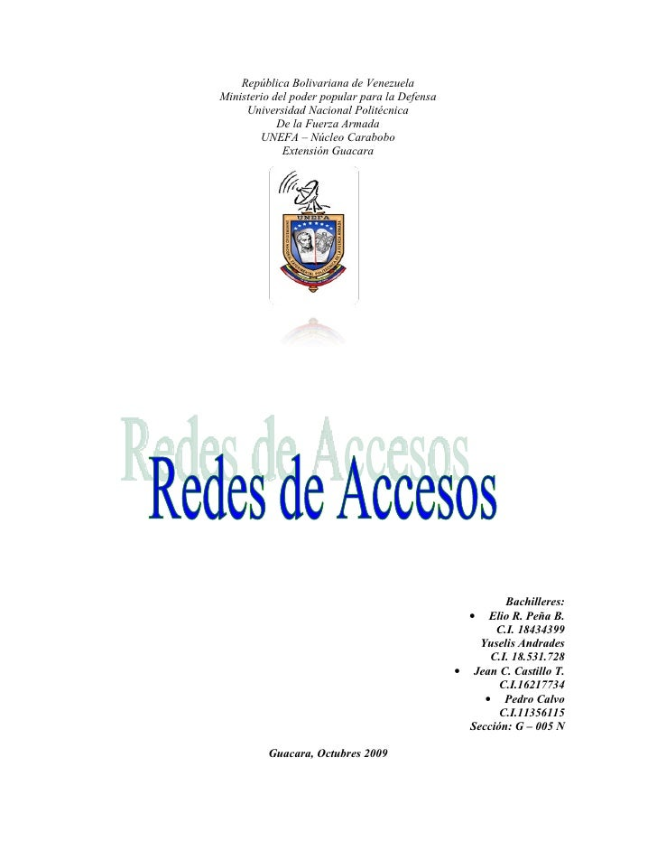 República Bolivariana de Venezuela Ministerio del poder popular para la Defensa      Universidad Nacional Politécnica     ...