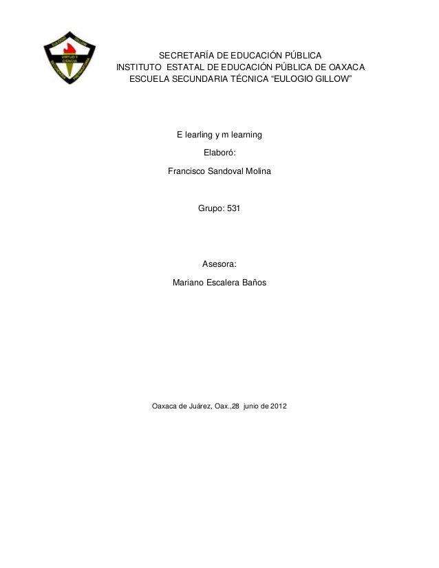 "SECRETARÍA DE EDUCACIÓN PÚBLICAINSTITUTO ESTATAL DE EDUCACIÓN PÚBLICA DE OAXACA   ESCUELA SECUNDARIA TÉCNICA ""EULOGIO GILL..."