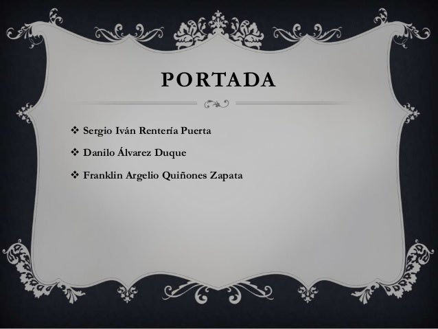 PORTADA Sergio Iván Rentería Puerta Danilo Álvarez Duque Franklin Argelio Quiñones Zapata