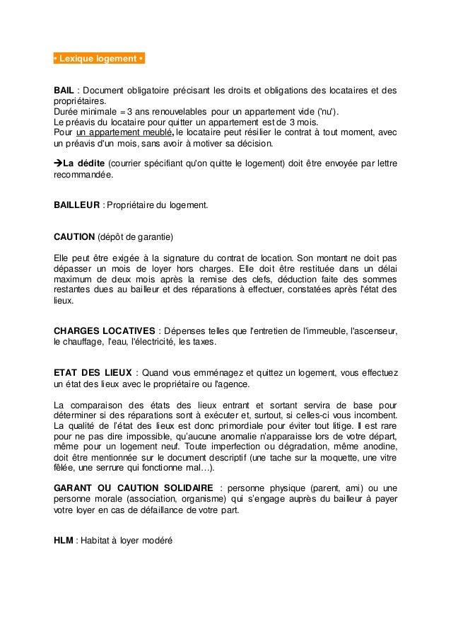 Quelques conseils pour se loger lyon - Droit de preavis locataire ...