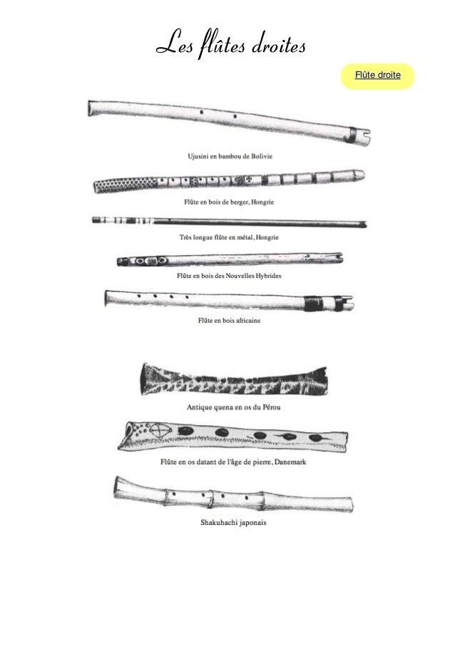 Les flûtes droites Flûte droite
