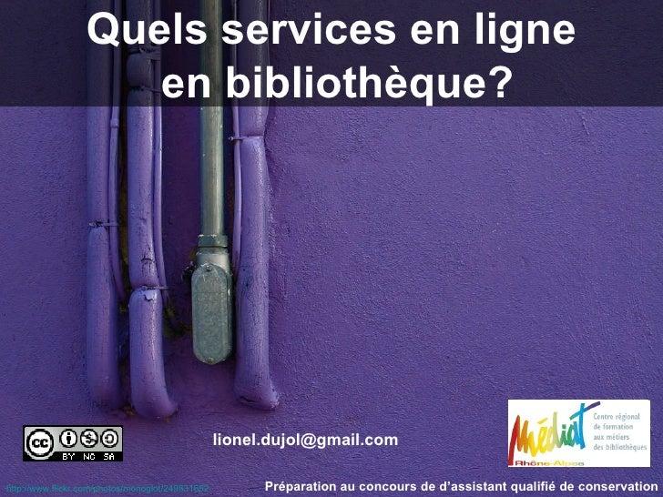 Quels services en ligne en bibliothèque