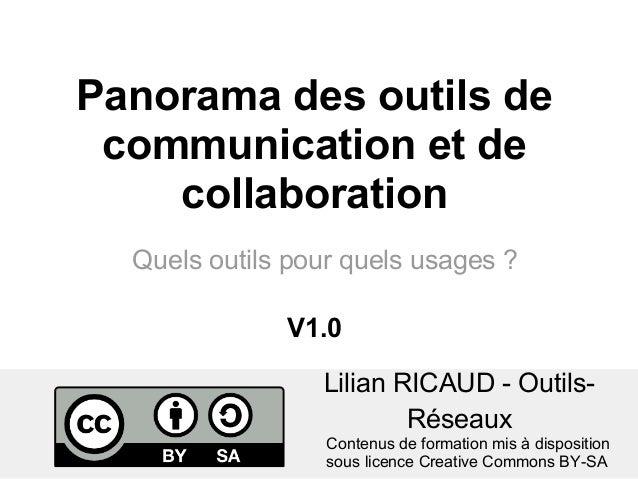 Lilian RICAUD - Outils-RéseauxQuels outils pour quels usages ?Panorama des outils decommunication et decollaborationConten...
