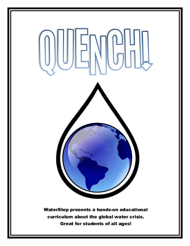 WaterStep presents a hands-­on educational curriculum about the global water crisis. Great for students of all age...