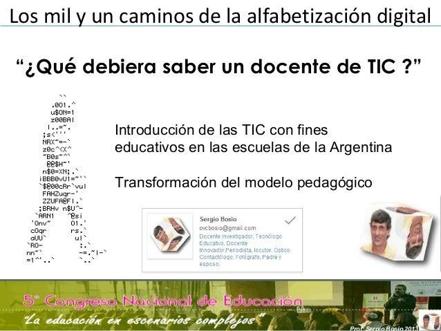 Los mil y un caminos de la alfabetización digitalIntroducción de las TIC con fineseducativos en las escuelas de la Argenti...