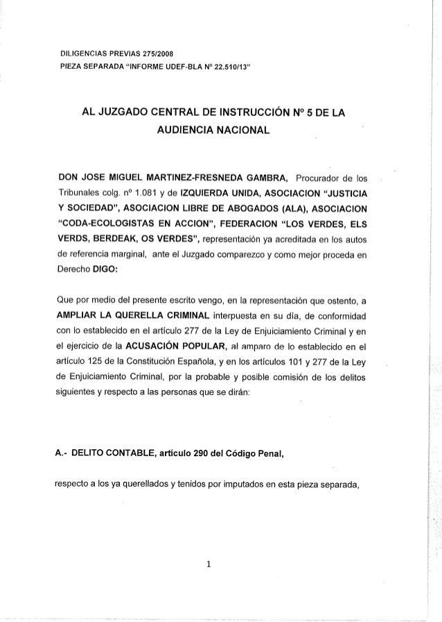 Querella Bárcenas - ampliación 19/9/2013