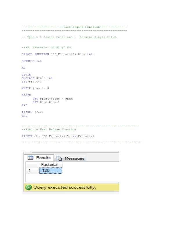 Queries assignment udf_and_triggers