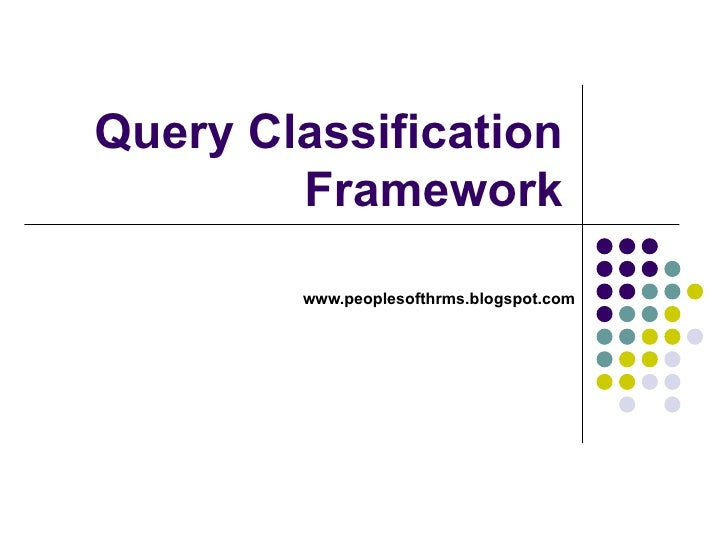 Query Classification Framework www.peoplesofthrms.blogspot.com