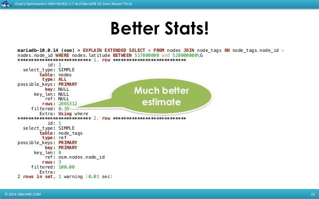 select tables optimized away innodb 2