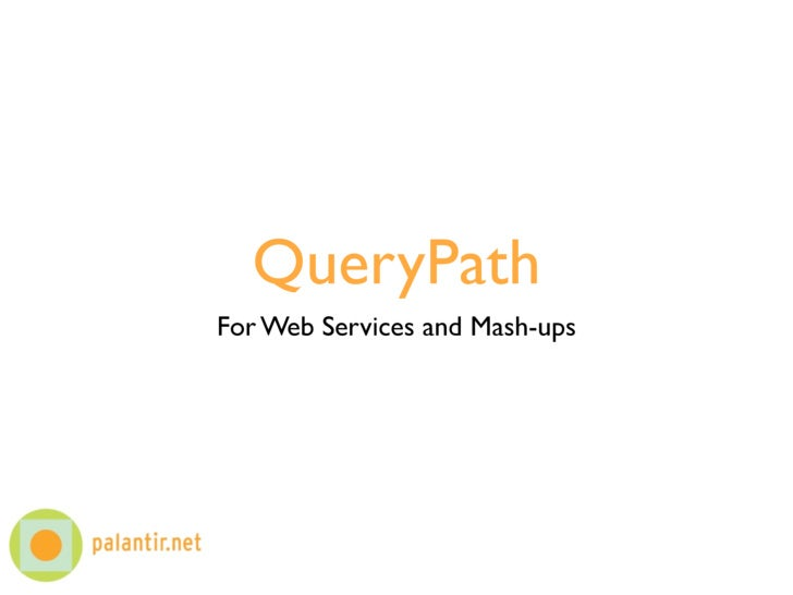 QueryPath, Mash-ups, and Web Services