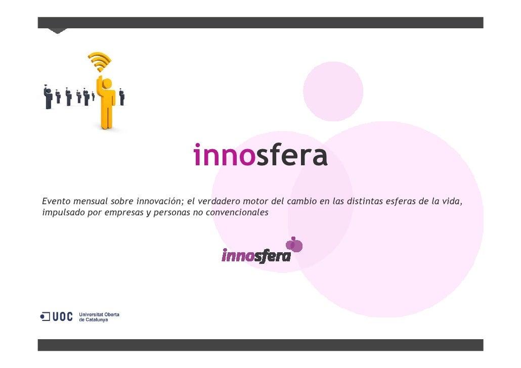 Qué es Innosfera - Evento Mensual Innovación