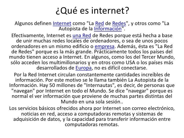 Que es internet - Primera opción