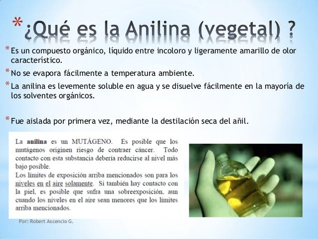 Qu Es La Anilina Vegetal