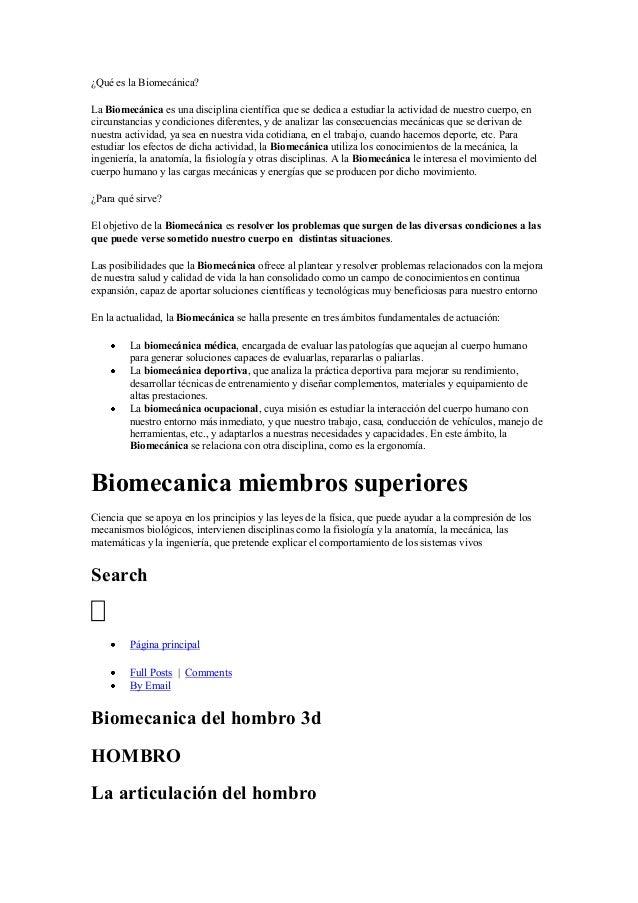 ¿Qué es la biomecánica