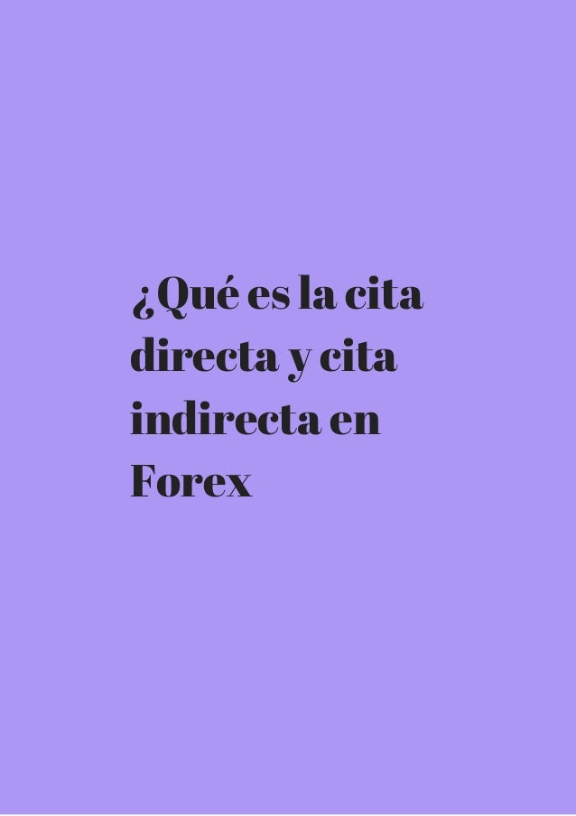 Red directa forex