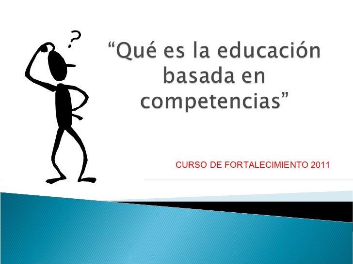 Qué es la educación basada en competencias