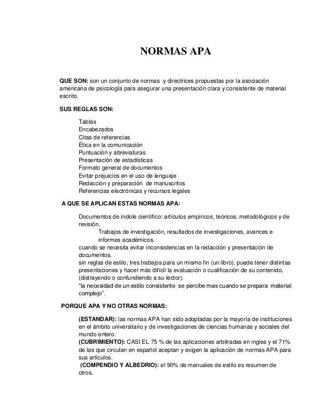 NORMAS APAQUE SON: son un conjunto de normas y directrices propuestas por la asociaciónamericana de psicología para asegur...