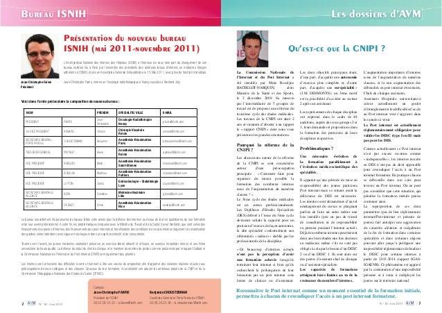 Bureau ISNIH Les dossiers d'AVM  Qu'est-ce que la CNIPI ?  La Commission Nationale de  l'Internat et du Post Internat a  é...
