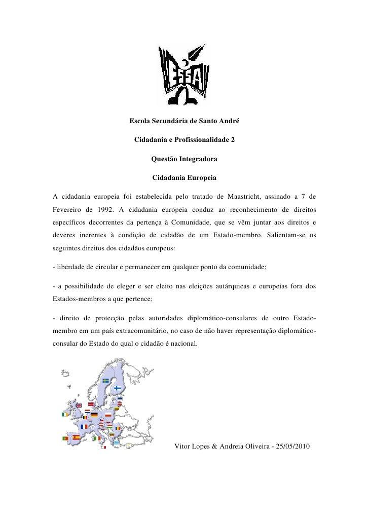 Escola Secundária de Santo André                             Cidadania e Profissionalidade 2                              ...
