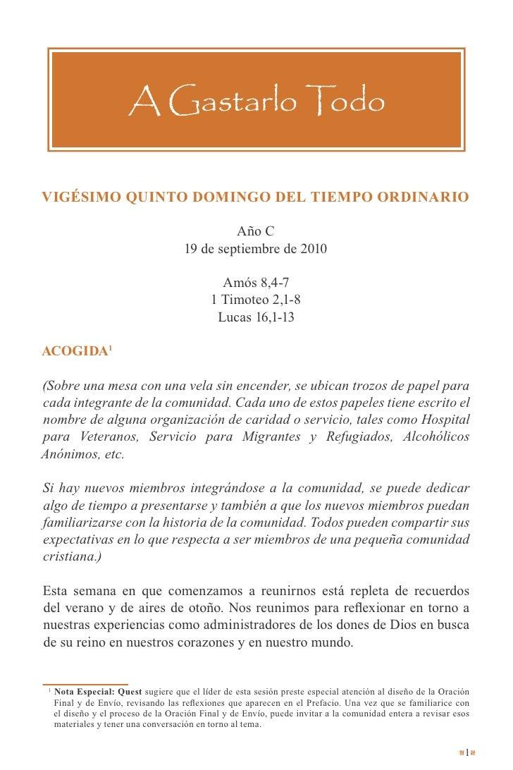 Quest en Español - Otoño 2010