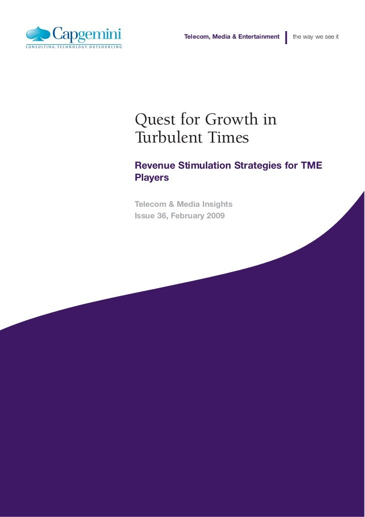 Quest For Growth In Turbulent Times