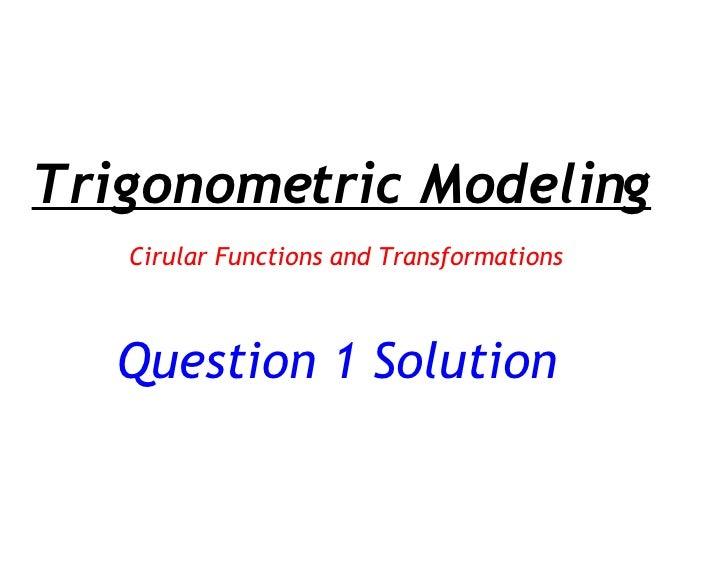 Question 1 Solution