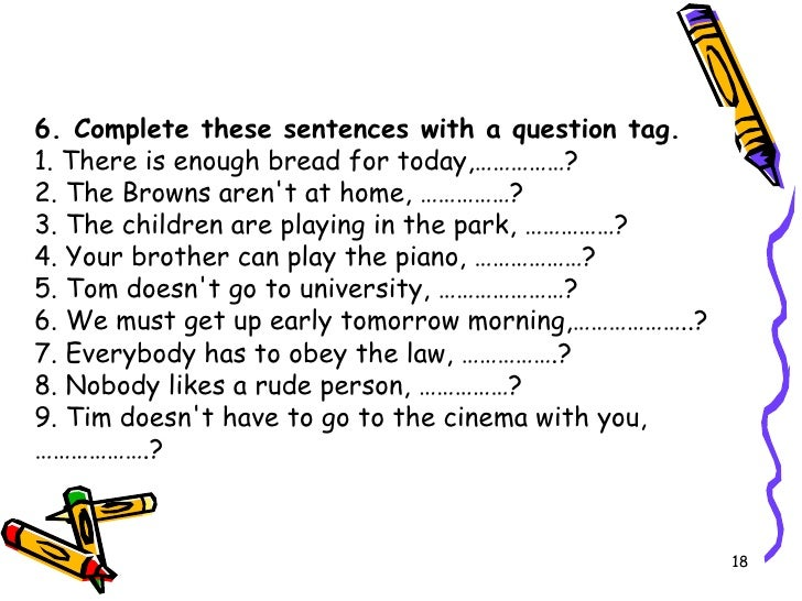 Tag Questions Worksheet With a Question Tag 1