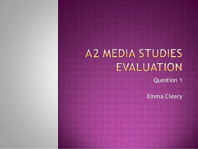 A2 Media Studies Evaluation