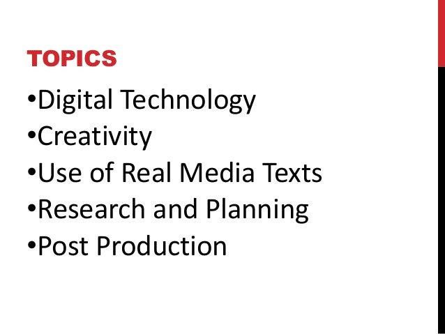Digital media essay questions
