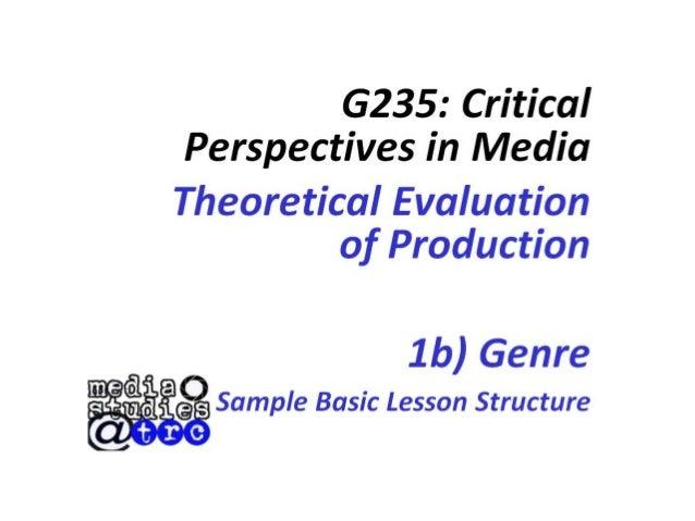 Question 1b genre presentation
