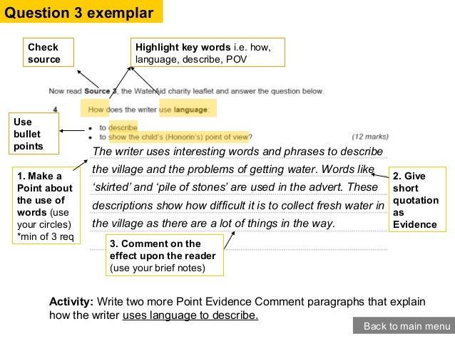 English paper help language 1 model answers