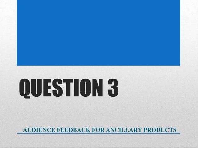 Ancillary Product Survey Feedback