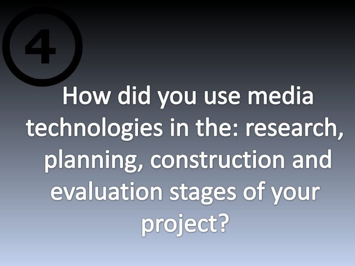The main media technology that I used during myresearching stage was:
