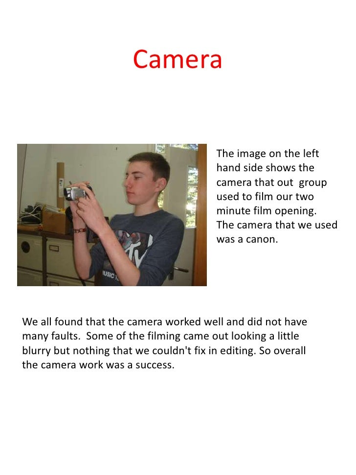 Camera                                          The image on the left                                          hand side s...
