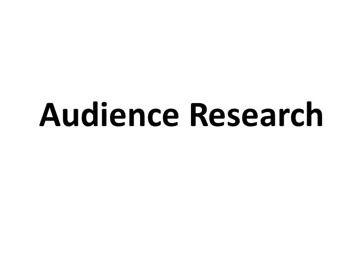 Audience research questionairre