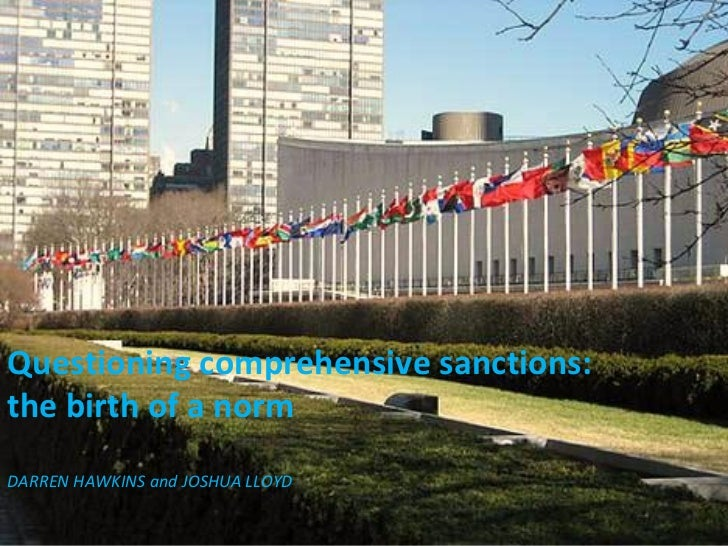 Questioning comprehensive sanctions: the birth of a norm