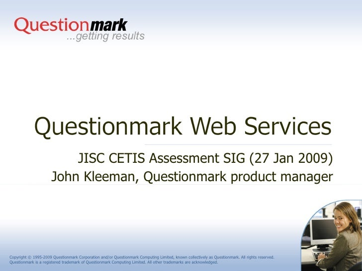 Questionmark Web Services
