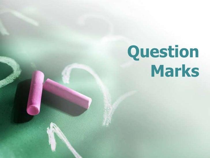 Question Mark Lesson