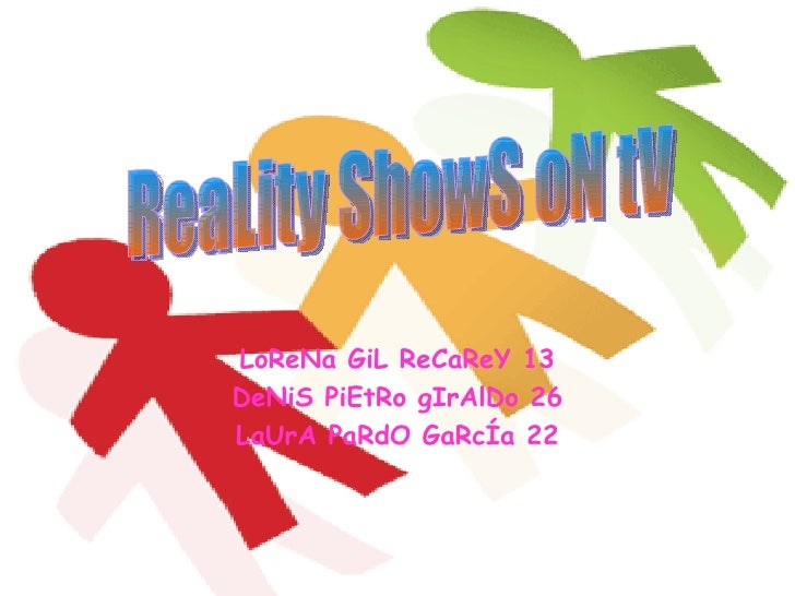 questionnaire television and reality shows The aim of this paper is to highlight the effect of reality programs on the younger generation in  a questionnaire  as reality shows reality television.