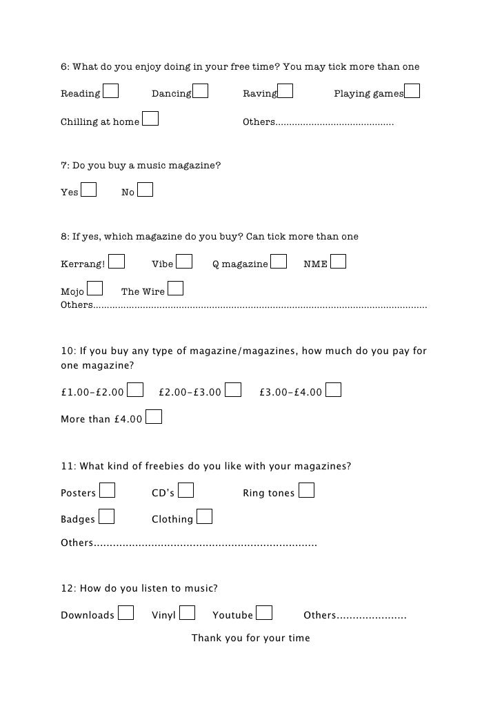 Could you answer this questionnaire for my coursework please!?